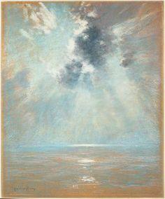 Ocean Sunrise.  John Appleton Brown.