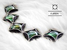 Candy-Halskette und Ohrring mit Glaslinsen von Fanori Jewelry auf DaWanda.com