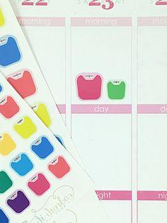 24 Colorful Scale Stickers – Perfect for Erin Condren, Plum Paper Planner, Inkwell Press, Filofax, Scrapbooking & More