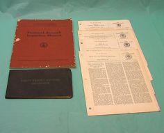 1950's Pilot Flight Record Book Personal Aircraft Inspection Manual Regulations