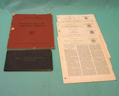 1950 39 S Pilot Flight Record Book Personal Aircraft Inspection Manual