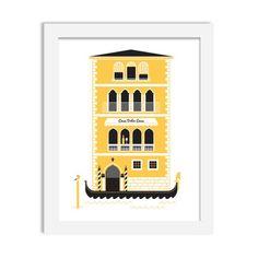italia - 8 x 10 print - JustGreet Office Supplies, Watercolor, Art Prints, Frame, Home Decor, Italia, Houses, Pen And Wash, Art Impressions