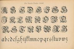 Schriftarten und  Zierschriften pm 1890  alte kanzlei fracturschrift