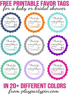 "Love this cute ""thanks for making today sweet"" favor idea, such cute baby shower favor ideas and bridal shower favor ideas!"