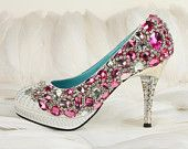 The most luxurious crystal shoes with great price. $219.00, via Etsy.