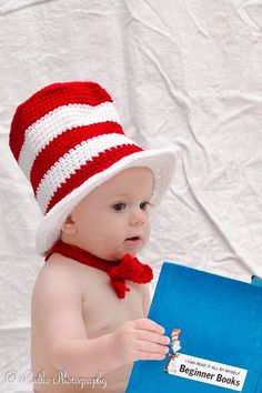 Dr Seuss birthday hat photo prop diaper cover and tie included-Made to order by conniemariepfost on Etsy https://www.etsy.com/listing/169806487/dr-seuss-birthday-hat-photo-prop-diaper
