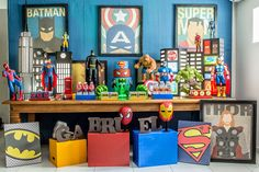 Encontrando Ideias: Festa Super Heróis!!                                                                                                                                                      Mais