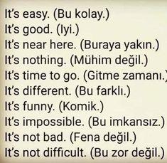 English Time, English Words, English Lessons, Learn English, English Language, Turkish Sayings, Turkish Lessons, Learn Turkish Language, Writing Words