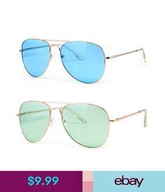 7adc07a848109 Sunglasses   Fashion Eyewear Color Lenses Silver Metal Frame Aviator  Sunglasses 70S Retro Pilot Cop Fashion