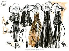 Fashion Illustration by  Nicole Guice