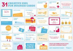 31 Creative uses for Business Cards #smallbiz