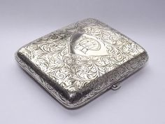 QUALITY ANTIQUE 118 gms  SOLID SILVeR STERLING CIGARETTE CASE BIRMINGHAM 1911…