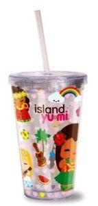 Hawaiian Travel Tumbler & Straw Island Yumi