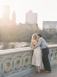 Photography: Vicki Grafton Photography - vickigraftonphotography.com  Read More: http://www.stylemepretty.com/2014/07/11/central-park-engagement-with-a-frenchie/
