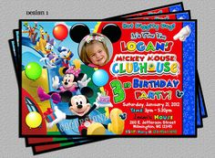 Mickey Mouse Club House Party Invitation