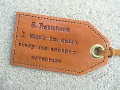 Create your own - Personalized Leather Luggage Tag with privacy flap on Etsy, $20.00