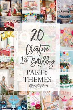 Over 20 Links to Creative First Birthday Party Themes! There is something so special and fun about planning your little one's first birthday! - athomewithnatalie