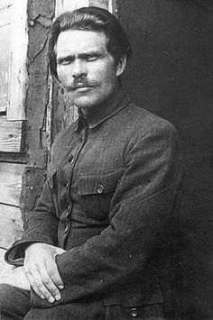 Nestor Makhno Commander of the Revolutionary Army of Ukraine . Liberty or Deth .