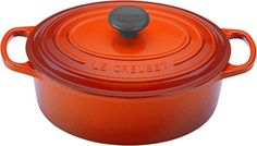 Le Creuset Signature Enameled CastIron 1Quart Oval French Dutch Oven Flame -- Details can be found by clicking on the image. This Amazon pins is an affiliate link to Amazon.
