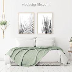 Modern Botanical Black And White Photography | Boho Decor | Set Of 2  Printable Wall Art