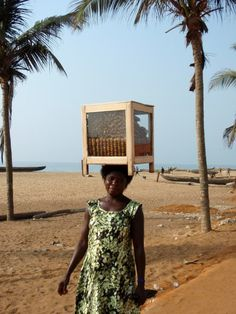 On the beach of Lome, Togo,