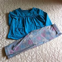 **BUNDLED**Girls 18 Months This is a cute legging set from Children's Place.  I pieces together even though they are different sizes because I like the shirts longer with leggings.  The shirt is 24 months and leggings are 18 months. Children's Place Other