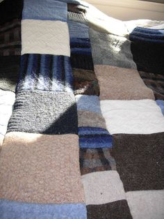 Felted sweater quilt