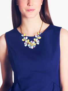 Kate Spade necklace-bungalow bouquet short statement necklace