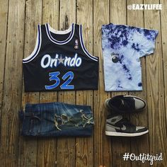Today's top #outfitgrid is by @eazylifee. #OrlandoMagic #Jersey, #Stussy #Tee…