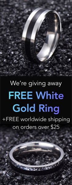 FREE White Gold Stainless Steel Ring
