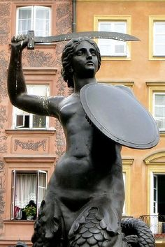 Syrenka  - The warsaw Mermaid by Jasiot, via Flickr