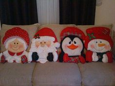 Discover recipes, home ideas, style inspiration and other ideas to try. Christmas Fabric Crafts, Christmas Cushions, Felt Christmas Decorations, Christmas Room, Christmas Sewing, Christmas Pillow, Christmas Humor, Handmade Christmas, Christmas Stockings