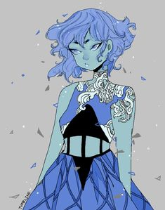 i have no idea what the name of this gemsona is, but its gorgeous.. or maybe its lapis
