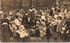 Easter Egg hunt at Beverly Place which was located where the American Legion is now.