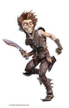 Pathfinder: Hookshanks Gruller by WillOBrien. Halfling murderer