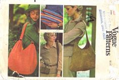Vogue 9254 Handbags Pattern Hobo Bag Shoulder Bag Quilted Clutch Bag, Double Bag, Envelope Belt Bag vintage sewing pattern by mbchills Envelope Clutch, Clutch Bag, Handbag Patterns, Vogue Patterns, Amazon Art, Sewing Stores, Vintage Sewing Patterns, Sewing Crafts, Reusable Tote Bags