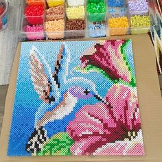 Hummingbird hama perler art by bettumvilla
