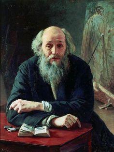 Nikolai Yaroshenko, Portrait of Nikolai Ge, 1890