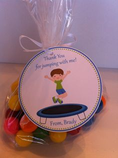 Trampoline Party Party Favor Bags by SweetDesignsbyRegan on Etsy. 9th Birthday Parties, Birthday Party Favors, Party Party, Party Time, 8th Birthday, Party Ideas, Trampoline Birthday Party, Nella The Princess Knight, Gymnastics Party