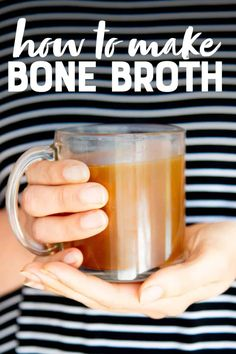 The only tutorial you need for bone broth making! Learn just how easy it is to make bone broth at home!