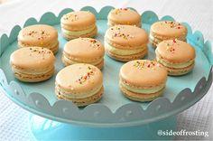 Vanilla sprinkle macarons