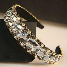 On Sale Luxury Rhinestone women headband  High Grade Crystal Headband head band lady hair accessories