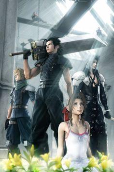 Cloud Strife, Zack Fair, Aerith Gainsborough, and Sephiroth...Final Fantasy VII:Crisis Core