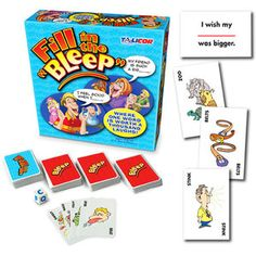 Fill In The Bleep Board Game, Multicolor Picnic Games For Kids, Mind Games For Kids, Games For Moms, Games To Play With Kids, Family Party Games, Board Games For Kids, Boys Go Games, Oh Snap Game, I Am Game