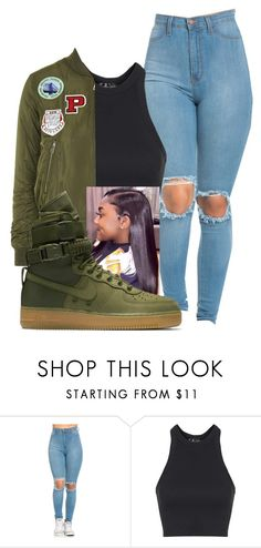 """""""Untitled #165"""" by diamondanderson287 ❤ liked on Polyvore featuring Topshop and NIKE"""