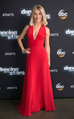 She's on Fire from Julianne Hough's Best Looks  Julianne certainly stopped the show, so to speak, in this red Lorena Sarbu dress in October 2015.