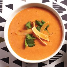 Tomato, Lentil and Coconut Soup