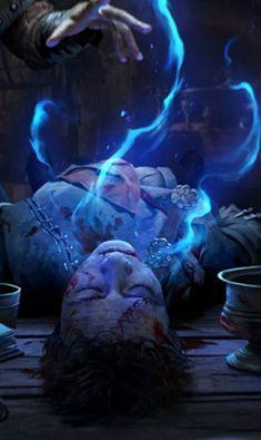 Hanmarvyn's Dream (ex-Blue Dream & Hanmarvyn's Blue Dream). Dark Spells, Dream Eater, Magical Power, Old Port, Necromancer, Blue Dream, Magic Art, Character Design References, The Witcher