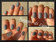 black and silver dotted mani.  credit:  raggio-di-luna-nails.blogspot.com.