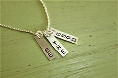 BE THE GOOD. hand-stamped necklace by Lemon Kissed
